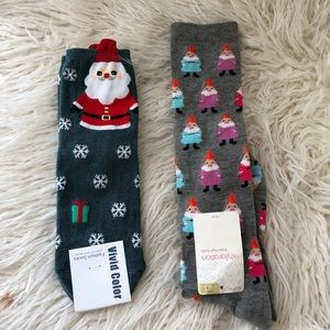 Xhiliration (NWT) Christmas Socks (2 pairs)